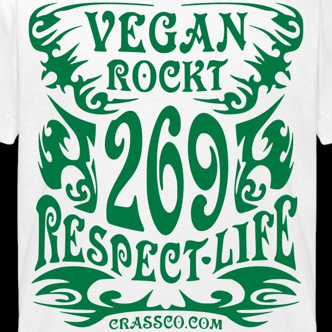 VEGAN RESPECT LIFE (Grün-Glitzer)