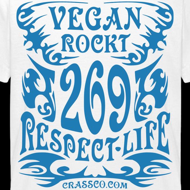 VEGAN RESPECT LIFE (Blau-Glitzer)