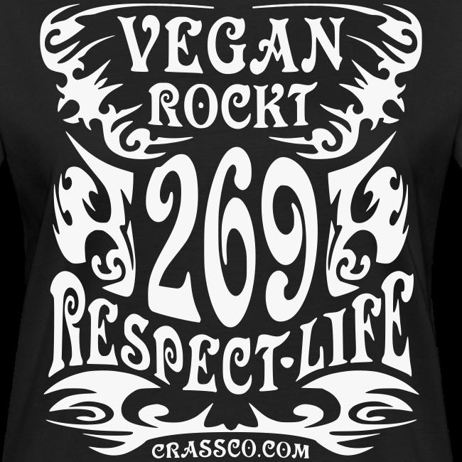 VEGAN RESPECT LIFE (Schwarz-Glitzer)