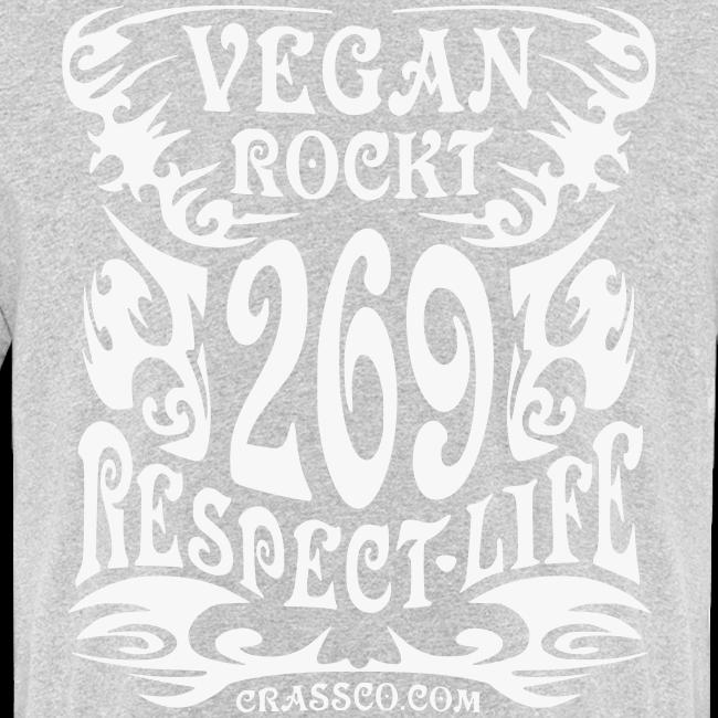 VEGAN RESPECT LIFE (Weiß-Glitzer)