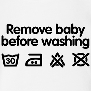 Remove baby before washing Baby Bodysuits - Organic Short-sleeved Baby Bodysuit