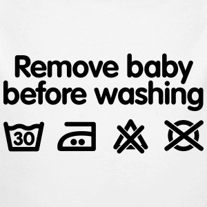 Remove baby before washing Baby Bodysuits - Longlseeve Baby Bodysuit
