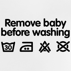 Remove baby before washing Babyskjorter - Baby-T-skjorte