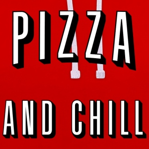 Pizza and chill Sudaderas - Sudadera con capucha en contraste