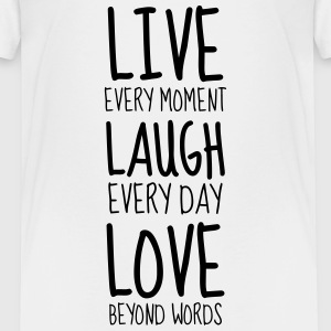 Live Laugh Love - Humor - Funny - Joke - Friend T-Shirts - Teenager Premium T-Shirt