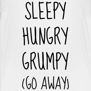 Sleepy Hungry Grumpy - Humor - Funny - Joke T-Shirts - Teenager Premium T-Shirt