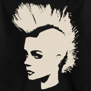 Punk Girl – creme-white - Teenager T-Shirt