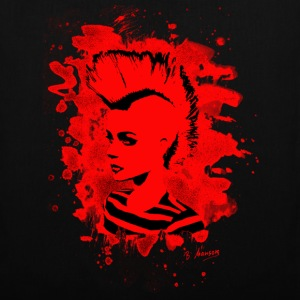 Punk Girl – bleached red - Stoffbeutel