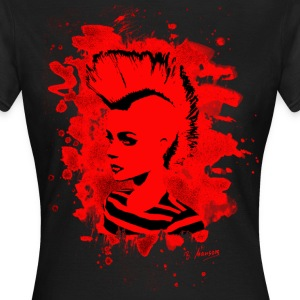 Punk Girl – bleached red - Frauen T-Shirt
