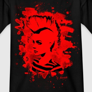 Punk Girl – bleached red - Teenager T-Shirt
