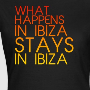 What Happens In Ibiza Womens - Women's T-Shirt