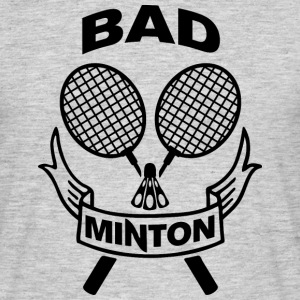 Bad Minton Black - Männer T-Shirt