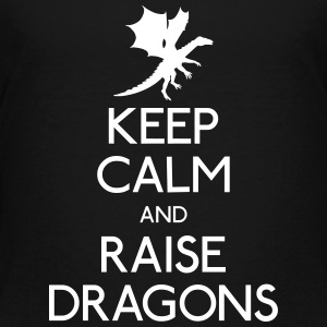 Keep calm dragons Skjorter - Premium T-skjorte for tenåringer