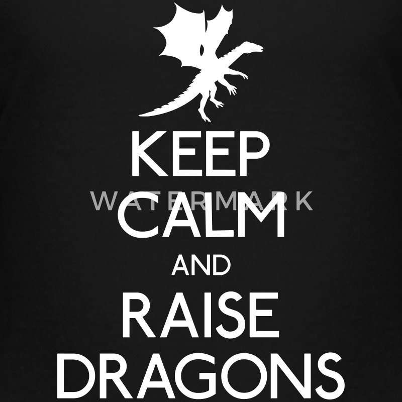 Keep calm dragons Camisetas - Camiseta premium adolescente