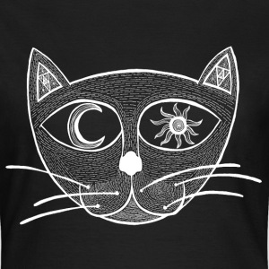 Heavens Cat (White) T-shirts - Dame-T-shirt