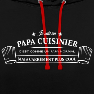 papa cuisinier Sweat-shirts - Sweat-shirt contraste