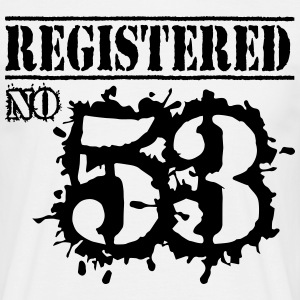Registered No 53 - 63rd Birthday T-Shirts - Men's T-Shirt