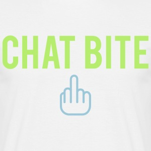 Chat bite Tee shirts - T-shirt Homme