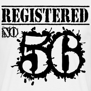Registered No 56 - 60th Birthday T-Shirts - Men's T-Shirt