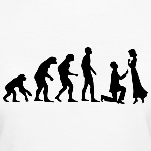 EVOLUTION HEIRATSANTRAG! T-Shirts - Frauen Bio-T-Shirt