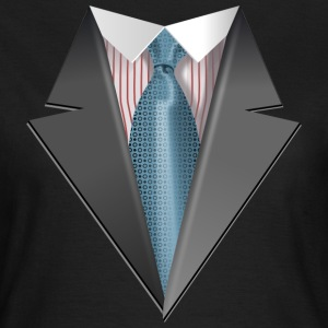 Tuxedo Tie Designs Tie light blue T-Shirts - Frauen T-Shirt