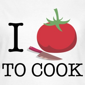 i_love_to_cook_06201603 T-Shirts - Frauen T-Shirt