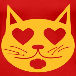 Cat in Love T-shirts - Dame premium T-shirt