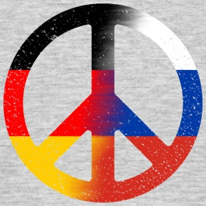 Peace Deutsch- Russland (distressed) Shirt - Männer T-Shirt