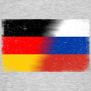 Flagge Deutsch- Russland (distressed) Shirt - Männer T-Shirt