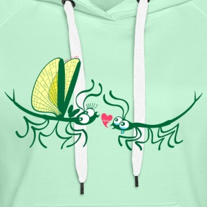 Stick insects painfully breaking their love Hoodies & Sweatshirts - Women's Premium Hoodie