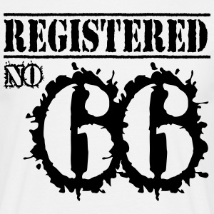 Registered No 66 - 50th Birthday T-Shirts - Men's T-Shirt