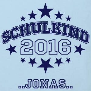 Schulkind 2016 mit Namen - Kinder Bio-T-Shirt
