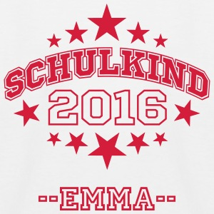 Schulkind 2016 mit Namen - Kinder Baseball T-Shirt