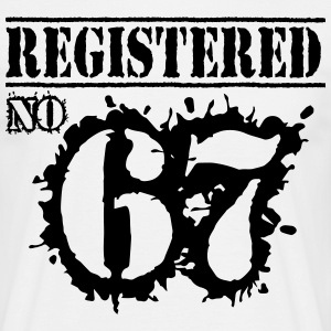 Registered No 67 - 49th Birthday T-Shirts - Men's T-Shirt
