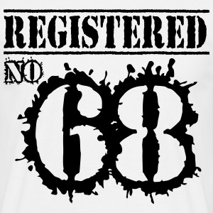 Registered No 68 - 48th Birthday T-Shirts - Men's T-Shirt