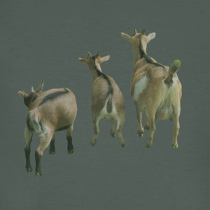 three goats from behind - Men's Organic T-shirt