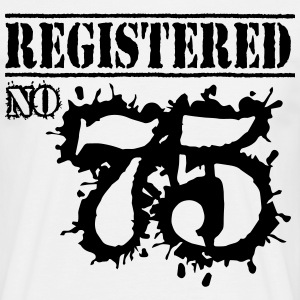 Registered No 75 - 41st Birthday T-Shirts - Men's T-Shirt