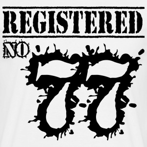 Registered No 77 - 39th Birthday T-Shirts - Men's T-Shirt