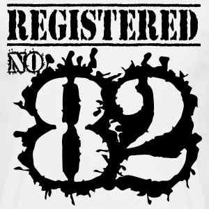 No tags Registered No 82 - 34th Birthday T-Shirts - Men's T-Shirt