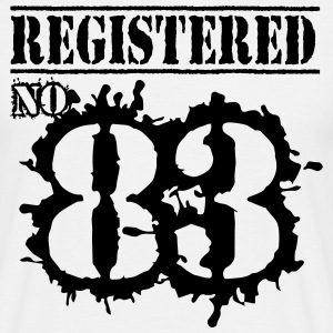 Registered No 83 - 33rd Birthday T-Shirts - Men's T-Shirt