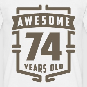 Awesome 74 Years Old - Men's T-Shirt