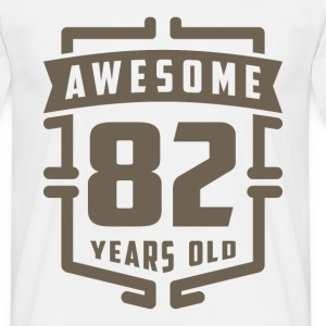 Awesome 82 Years Old - Men's T-Shirt
