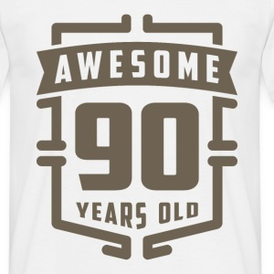 Awesome 90 Years Old - Men's T-Shirt