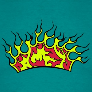 Fire flames couronne Tee shirts - T-shirt Homme