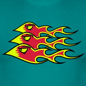 Fire flame formation T-Shirts - Men's T-Shirt