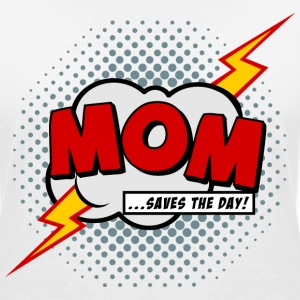 Mom saves the day T-Shirts - Women's V-Neck T-Shirt