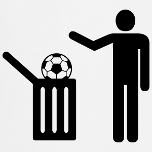 Football = trash Delantales - Delantal de cocina