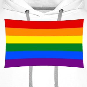 rainbow flag, pride Hoodies & Sweatshirts - Men's Premium Hoodie
