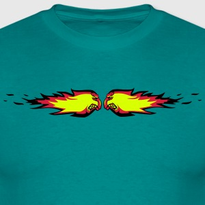 Fire flame fireball collision agro T-Shirts - Men's T-Shirt