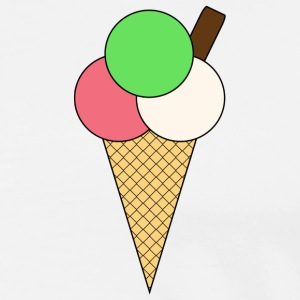 Ice Cream Cone and Flake - Men's Premium T-Shirt